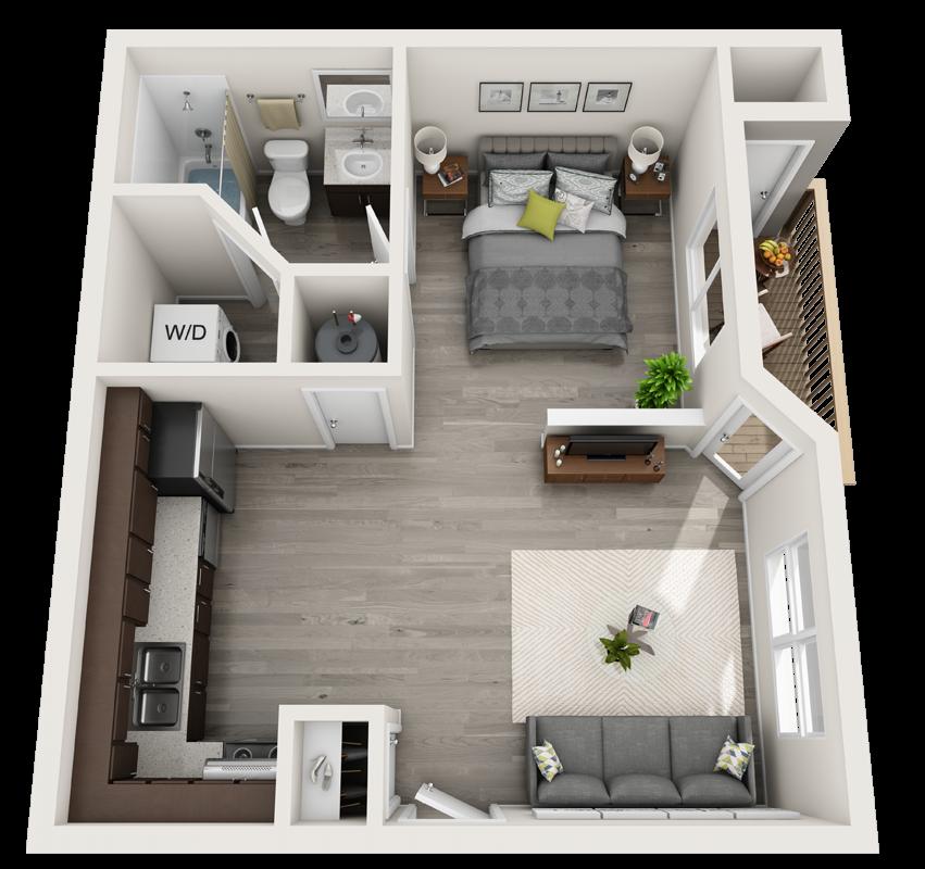 pine studio floor plan