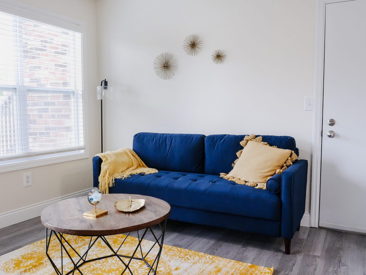 room with couch and table